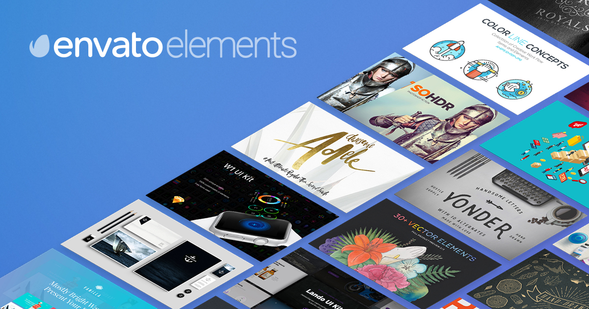 Download Stock Photos, Fonts & Templates with Envato Elements