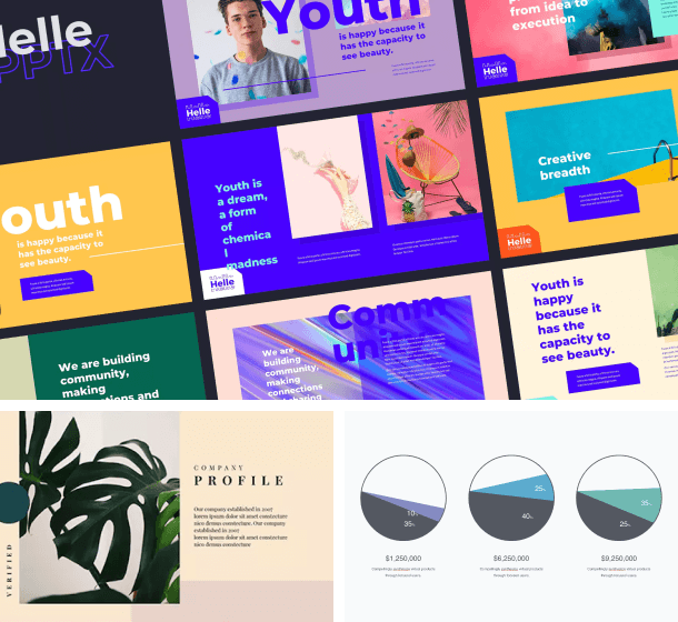 Creative assets made with Presentations from Envato Elements