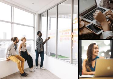 Ensemble de 3 images de Twenty20 affichant Le monde des affaires