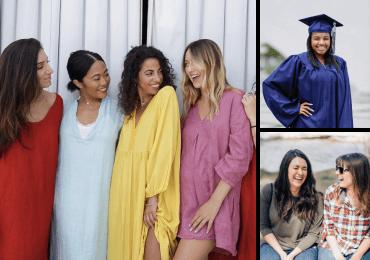 Ensemble de 3 images de Twenty20 affichant Au féminin