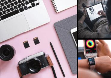 Ensemble de 3 images de Twenty20 affichant Technologie